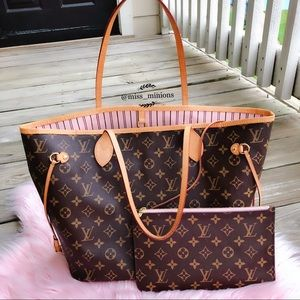 13d421e606b8 LOUIS VUITTON NEVERFULL MM ROSE BALLERINE MONOGRAM